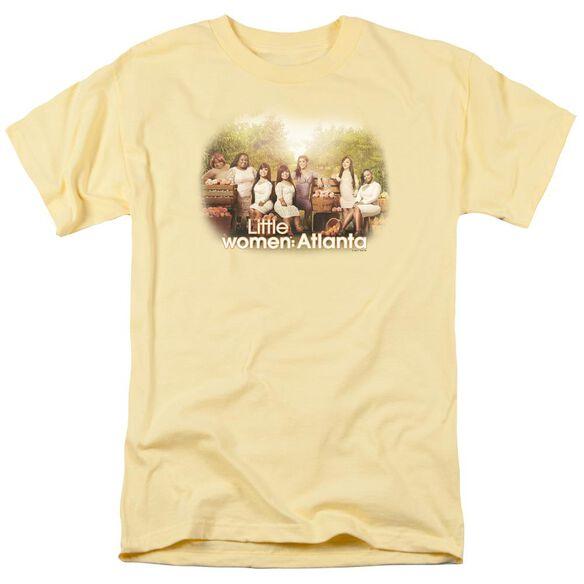 Little Women Atlanta Key Art Short Sleeve Adult Banana T-Shirt