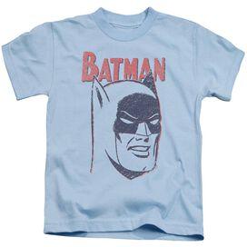 Batman Crayon Man Short Sleeve Juvenile Light Blue T-Shirt