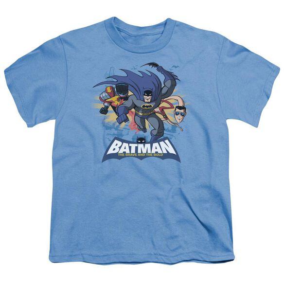 Batman Bb Charging Trio Short Sleeve Youth Carolina T-Shirt