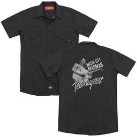 Ted Nugent Madman(Back Print) Adult Work Shirt