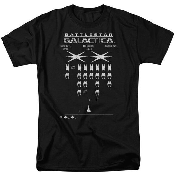 Bsg Galactic Invaders Short Sleeve Adult T-Shirt