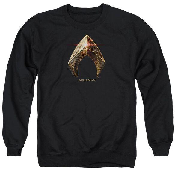 Justice League Movie Aquaman Logo Adult Crewneck Sweatshirt