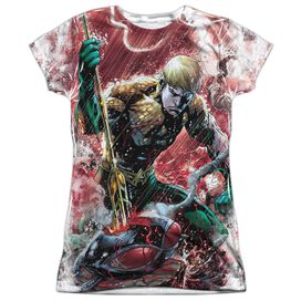 Jla Aquaman Vs Manta Short Sleeve Junior Poly Crew T-Shirt