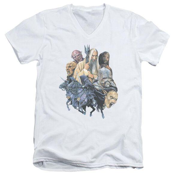 Lor Collage Of Evil Short Sleeve Adult V Neck T-Shirt
