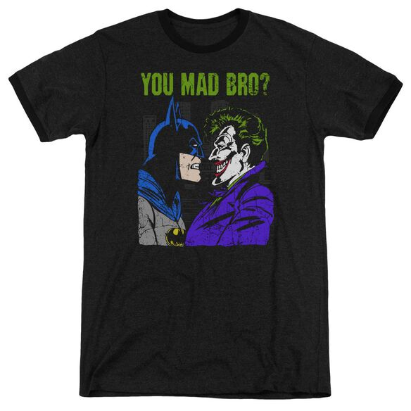 Dc Mad Bro Adult Heather Ringer