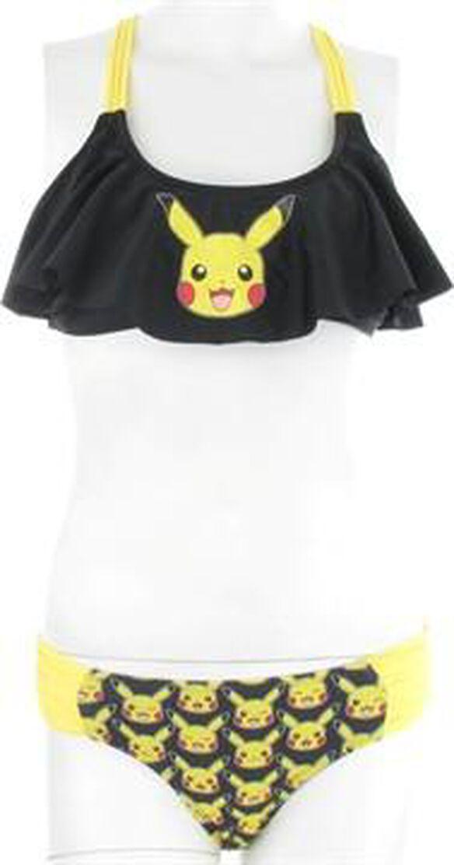 Pokemon Pikachu Ruffle Bandeau Bikini Swimsuit