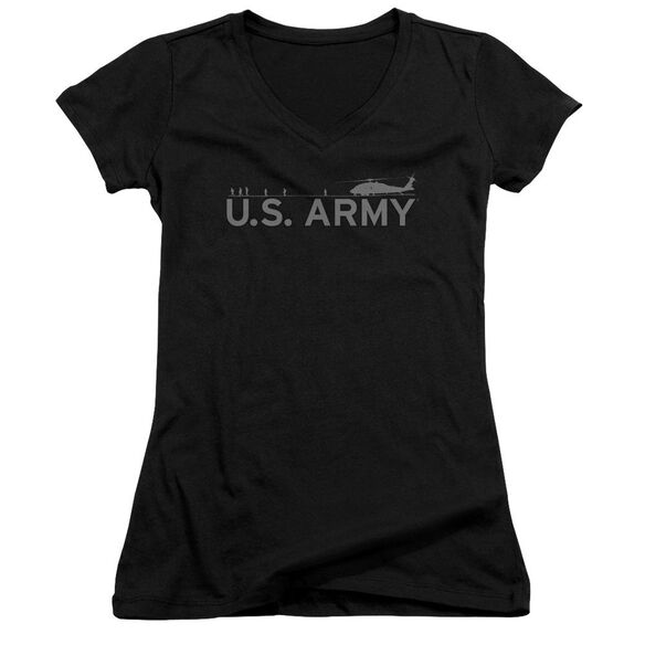 Army Helicopter Junior V Neck T-Shirt