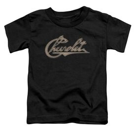 Chevrolet Chevy Script Short Sleeve Toddler Tee Black T-Shirt