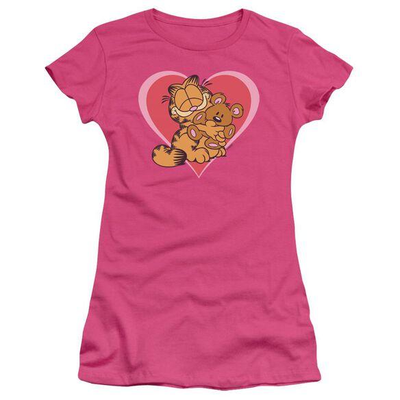 GARFIELD CUTE NCUDDLY - S/S JUNIOR SHEER - HOT PINK T-Shirt