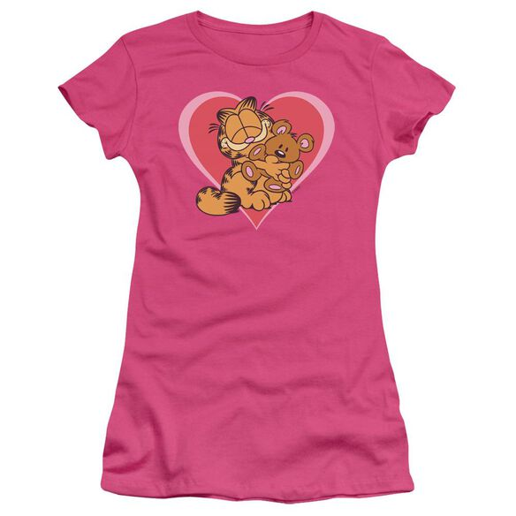 Garfield Cute N'cuddly Short Sleeve Junior Sheer Hot T-Shirt