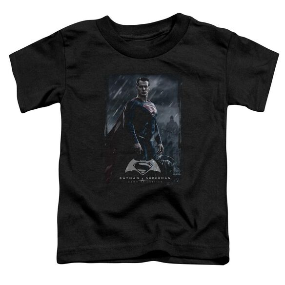 Batman V Superman Supe Poster Short Sleeve Toddler Tee Black T-Shirt