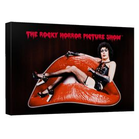 Rocky Horror Picture Show Frank Lips Canvas Wall Art With Back Board