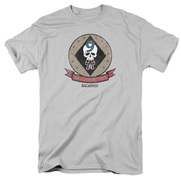 Bsg Headhunters Badge Short Sleeve Adult Silver T-Shirt