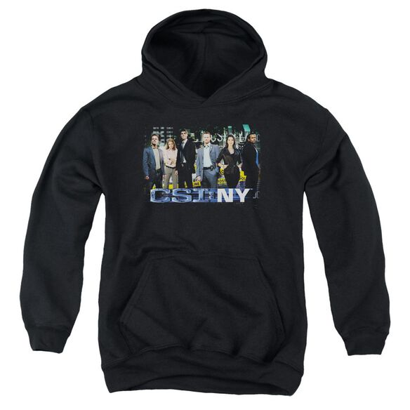 Csi Ny Cast Youth Pull Over Hoodie