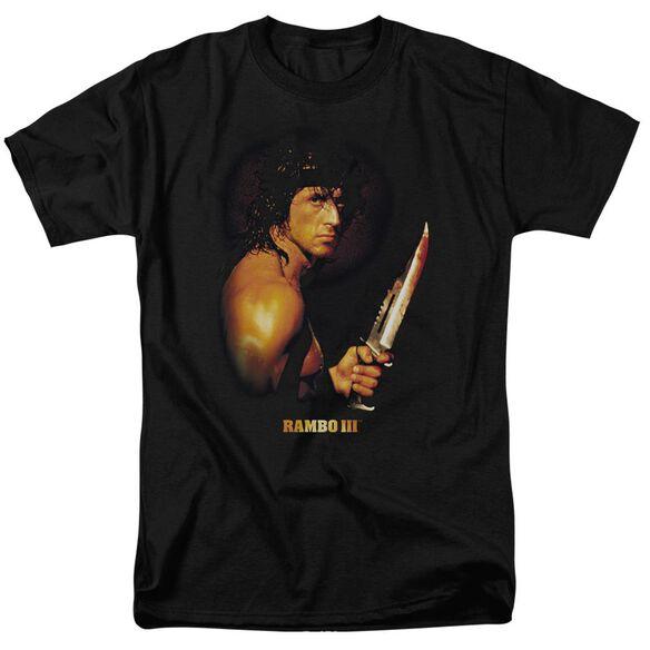 Rambo Iii Blood Lust Short Sleeve Adult Black T-Shirt