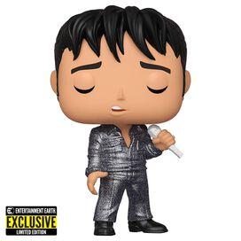 Funko Pop! Rocks: Elvis Presley 1968 Comeback Special Diamond Glitter (Entertainment Earth Exclusive)
