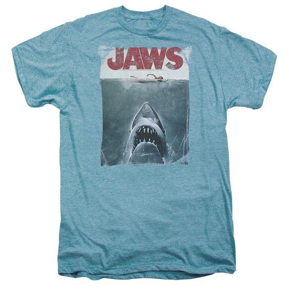 Jaws Title Short Sleeve Adult Premium Tee Sky T-Shirt