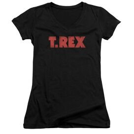 T Rex Logo Junior V Neck T-Shirt