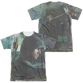 Arrow Hero (Front Back Print) Adult Poly Cotton Short Sleeve Tee T-Shirt