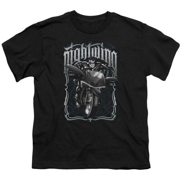 Batman Nightwing Biker Short Sleeve Youth T-Shirt