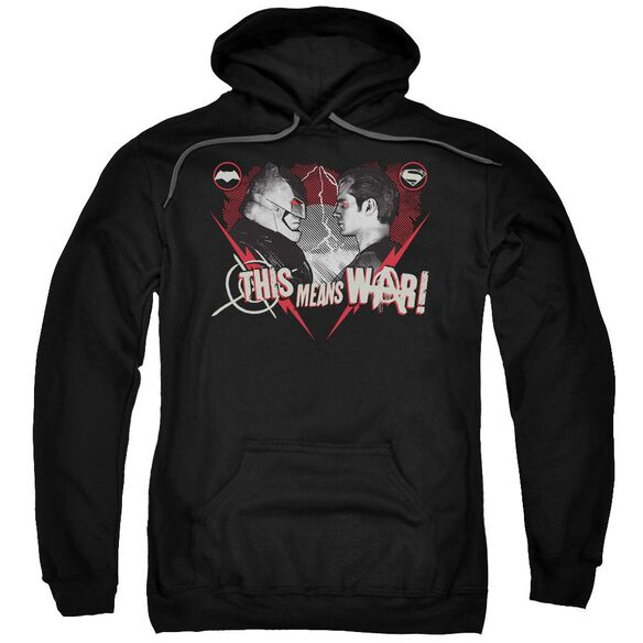 Batman V Superman This Means War Adult Pull Over Hoodie