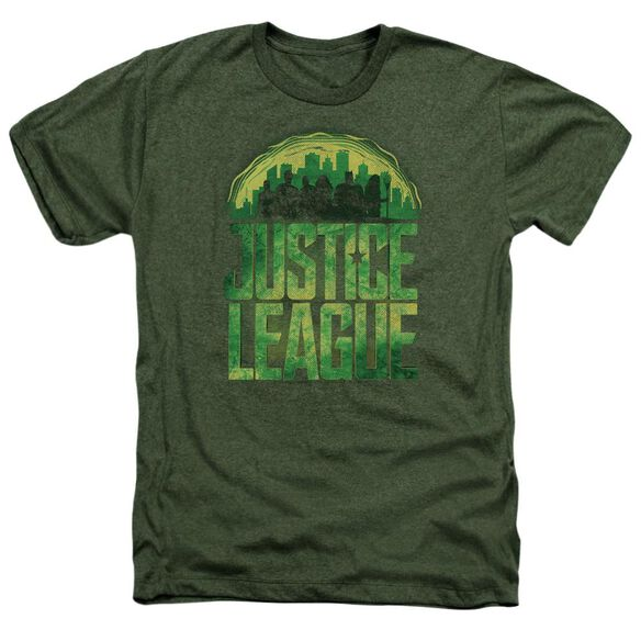 Justice League Movie Kryptonite Adult Heather Military