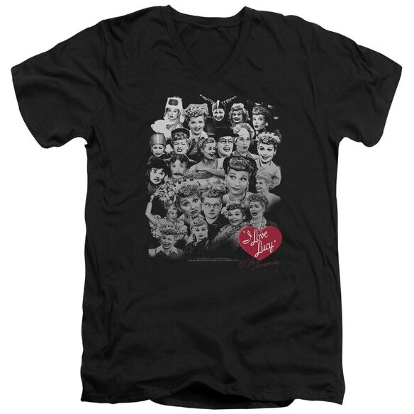 I Love Lucy 60 Years Of Fun Short Sleeve Adult V Neck T-Shirt