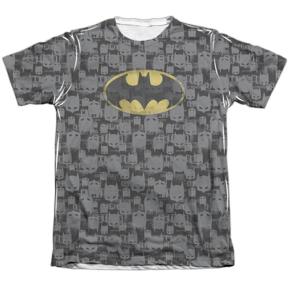 Batman Caped Crusader Repeat Adult 65 35 Poly Cotton Short Sleeve Tee T-Shirt
