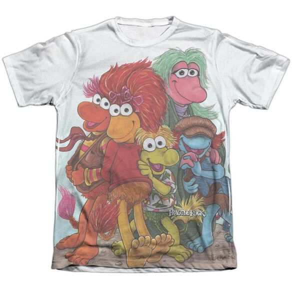 Fraggle Rock Group Shot Adult Poly Cotton Short Sleeve Tee T-Shirt