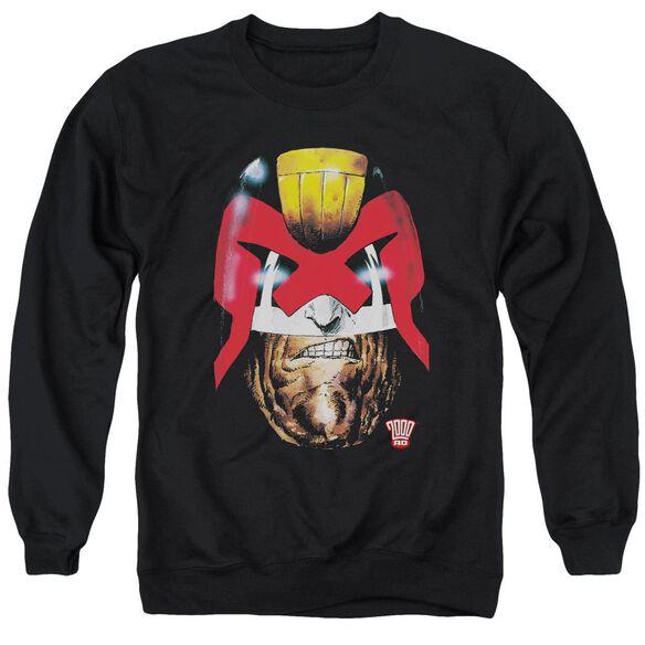 Judge Dredd Dredd's Head Adult Crewneck Sweatshirt