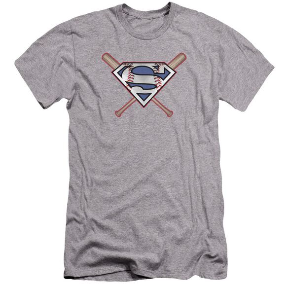 Superman Crossed Bats Premuim Canvas Adult Slim Fit Athletic