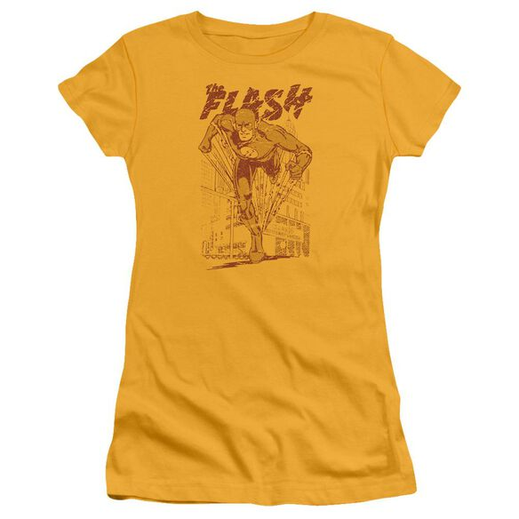 Dc Flash Busting Out Short Sleeve Junior Sheer T-Shirt