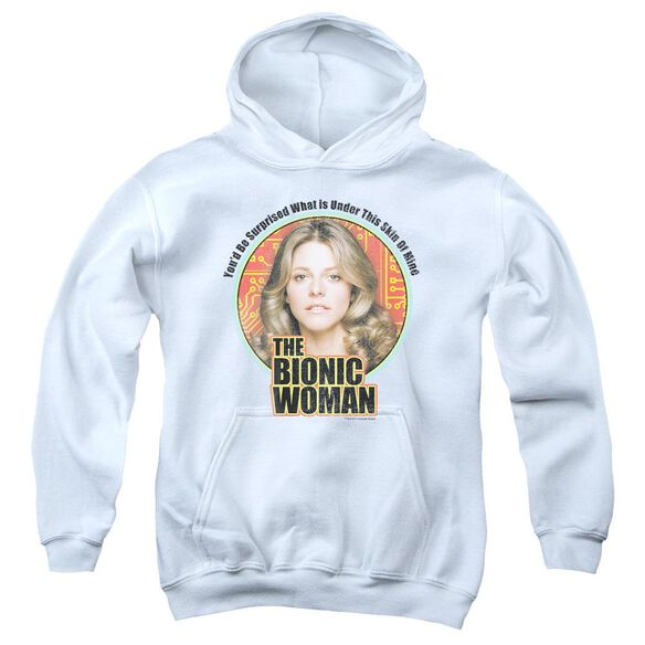 Bionic Woman Under My Skin Youth Pull Over Hoodie