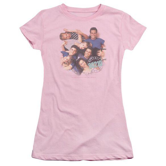 90210 Gang In Logo Short Sleeve Junior Sheer T-Shirt