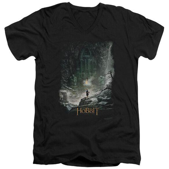 Hobbit At Smaug's Door Short Sleeve Adult V Neck T-Shirt