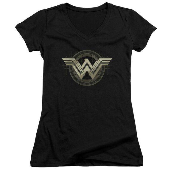 Batman V Superman Ancient Emblems Junior V Neck T-Shirt