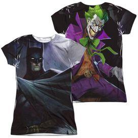 Infinite Crisis Batman Vs Joker (Front Back Print) Short Sleeve Junior Poly Crew T-Shirt