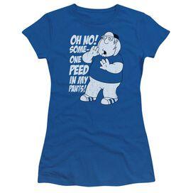 Family Guy In My Pants Short Sleeve Junior Sheer Royal T-Shirt