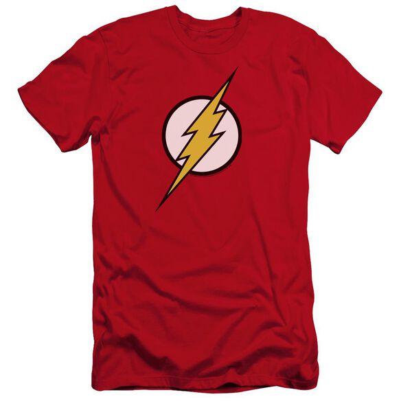 Jla Flash Logo Premuim Canvas Adult Slim Fit