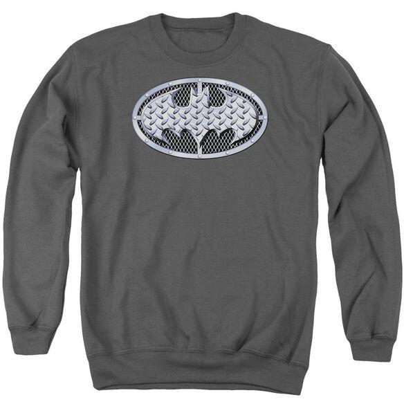 Batman Steel Mesh Shield Adult Crewneck Sweatshirt