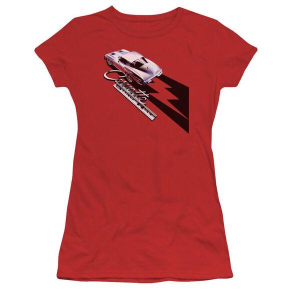 Chevrolet Split Window Sting Ray Short Sleeve Junior Sheer T-Shirt