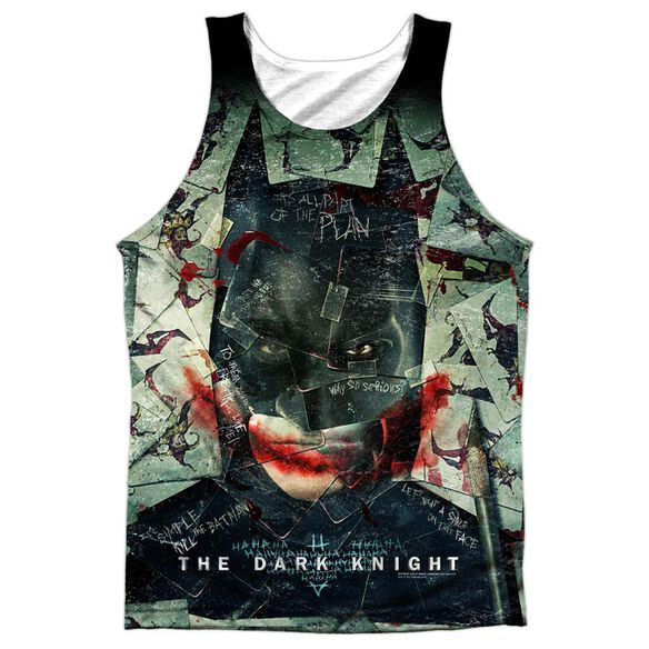 Dark Knight Stacked Hand Adult Poly Tank Top