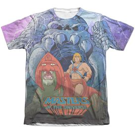 Masters Of The Universe Protecting Grayskull Adult Poly Cotton Short Sleeve Tee T-Shirt