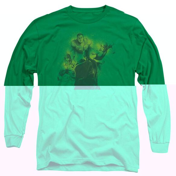 DCO SPRAY SKETCH LEAGUE - L/S ADULT 18/1 - KELLY GREEN T-Shirt