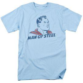 SUPERMAN THE MAN - S/S ADULT 18/1 - LIGHT BLUE T-Shirt