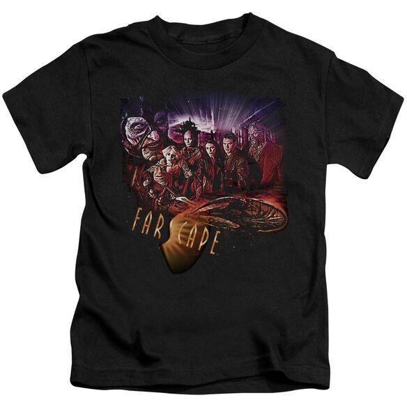 Farscape Graphic Collage Short Sleeve Juvenile Black T-Shirt