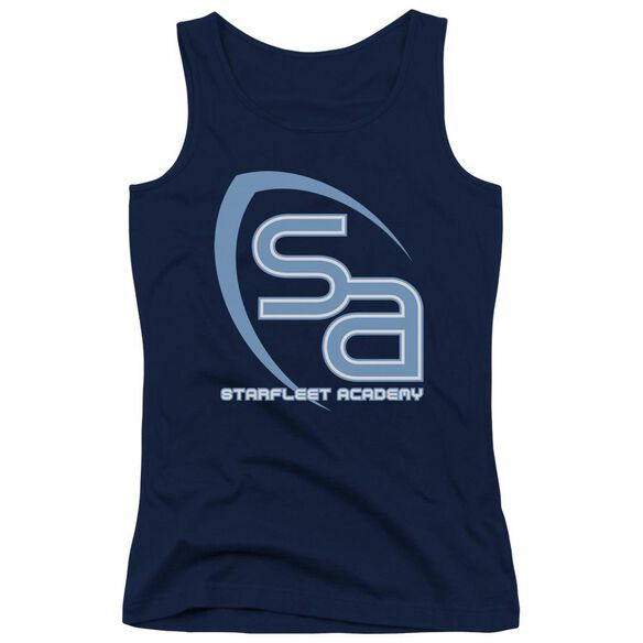 Star Trek Sa Logo - Juniors Tank Top - Navy