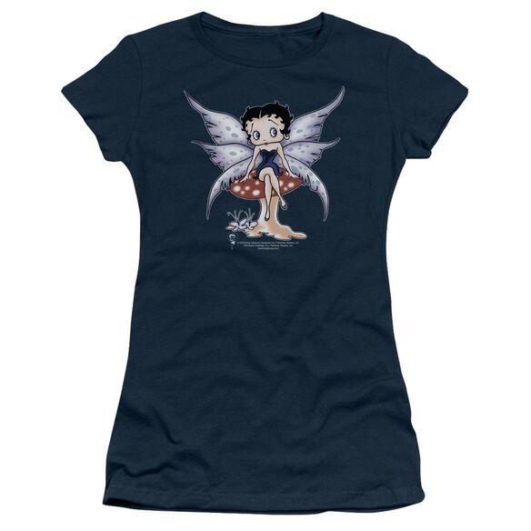 Betty Boop Mushroom Fairy Short Sleeve Junior Sheer T-Shirt