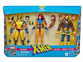 Marvel Legends Series Marvel 80th Anniversary X-Force Wolverine, Jean Grey & Cyclops Action Figure [90's Costumes] [3-pack]