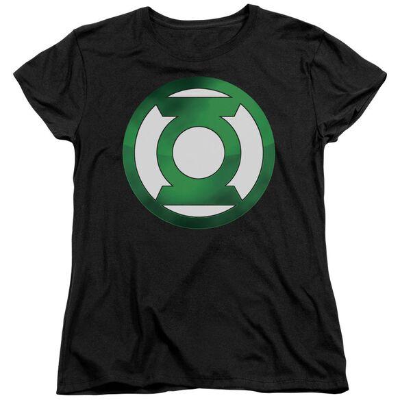 Green Lantern Green Chrome Logo Short Sleeve Womens Tee T-Shirt